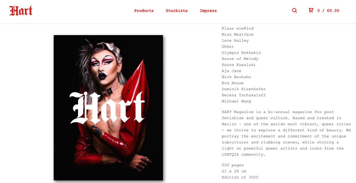 Hart magazine featuring some of BONDY s pvc pieces in print