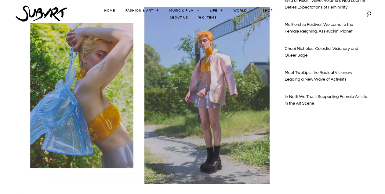 Subvert Magazine featuring PVC horse bag of BONDY
