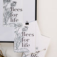 Bees for Life cards and prints by Miel des Collines