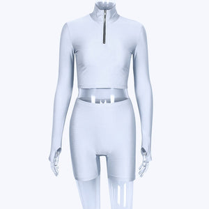 FITX 2 PIECE CYCLE CROP AND SHORTS