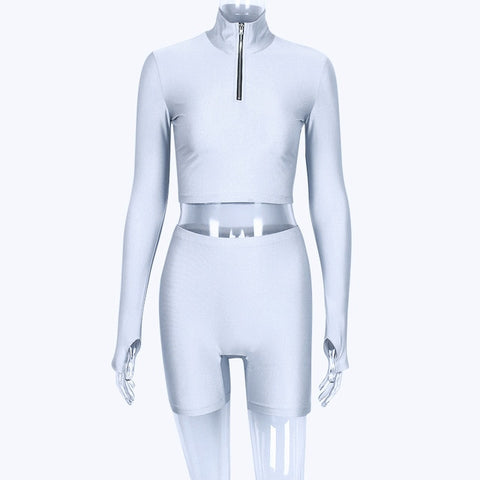 Image of FITX 2 PIECE CYCLE CROP AND SHORTS