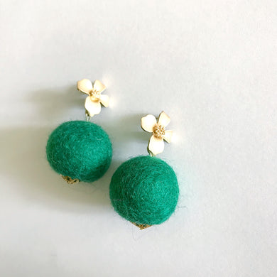 Kelly Green Baby Poms
