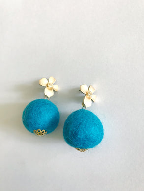 Turquoise Baby Poms