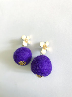 Grape Baby Poms