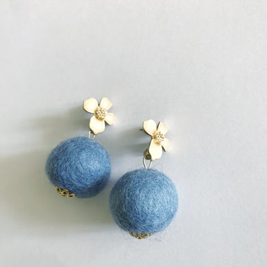 Light Blue Baby Poms