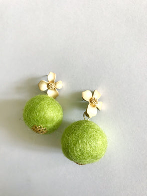 Chartreuse Baby Poms