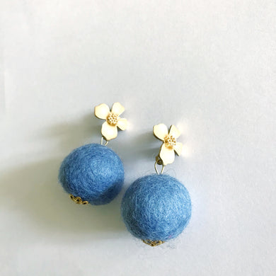 Periwinkle Blue Baby Poms