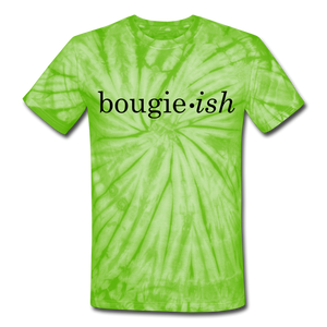 Bougie-ish Unisex Tie Dye T-Shirt - spider lime green