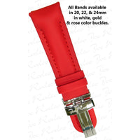 Classic Red Polyurethane Band 20 MM
