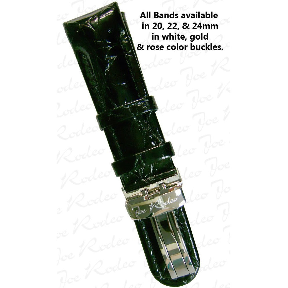 Classic Black Leather Band 20 MM