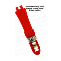 Broadway Red Rubber Band