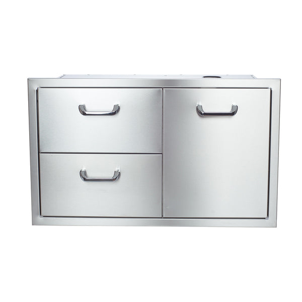 Hasty bake 36 stainless steel enclosed cabinet drawer for Stainless steel drawers kitchen