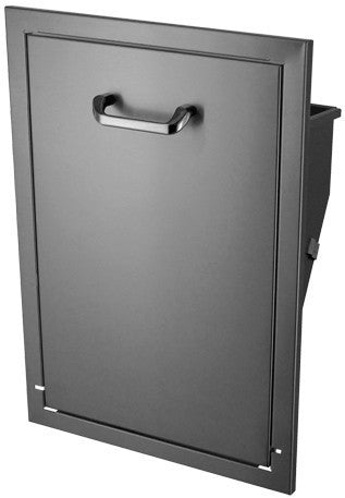hbi stainless steel tilt-out trash can (671tt) - grill kitchens