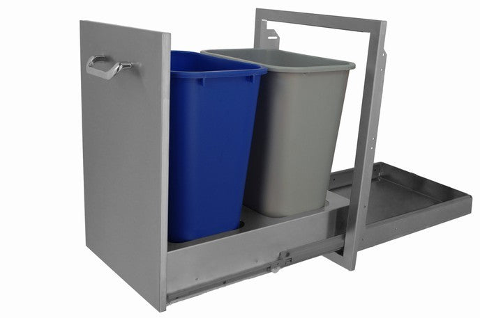 hbi slide out trash can stainless steel 672ts