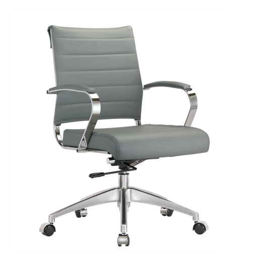 Fine Mod Imports Sopada Conference Office Chair Mid Back, Gray