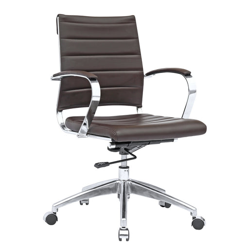 Fine Mod Imports Sopada Conference Office Chair Mid Back, Dark Brown