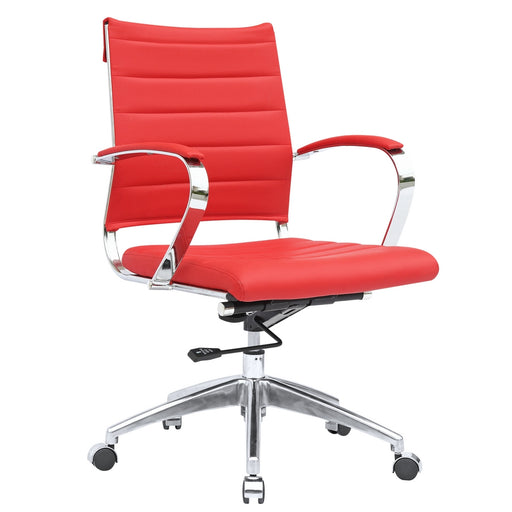 Fine Mod Imports Sopada Conference Office Chair Mid Back, Red