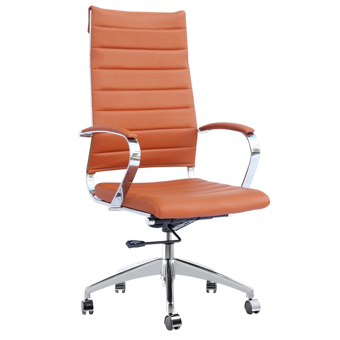 Fine Mod Imports Sopada Conference Office Chair High Back, Light Brown