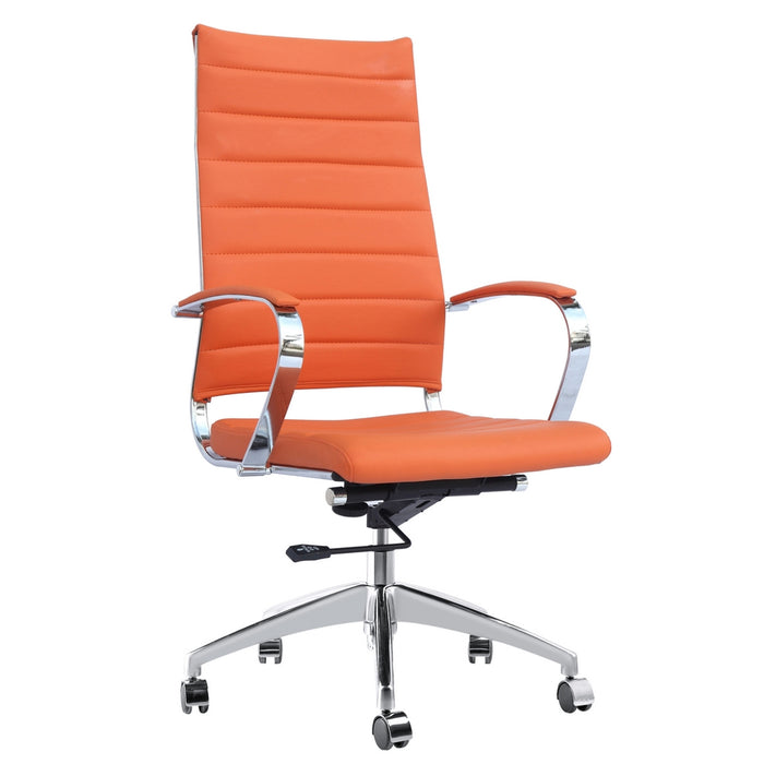 Fine Mod Imports Sopada Conference Office Chair High Back, Orange