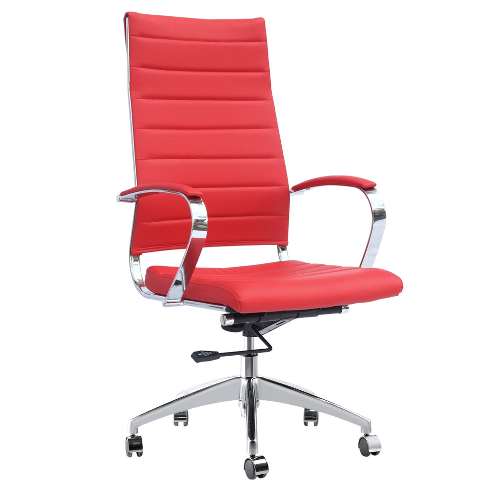 Fine Mod Imports Sopada Conference Office Chair High Back, Red