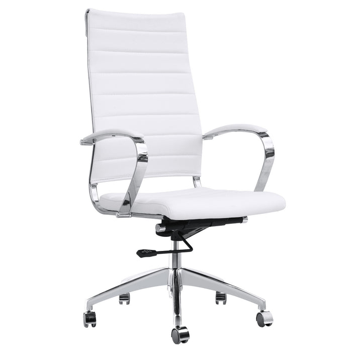 Fine Mod Imports Sopada Conference Office Chair High Back, White