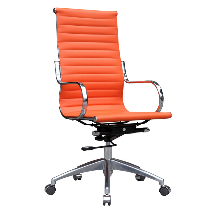 Fine Mod Imports Twist Office Chair High Back, Orange
