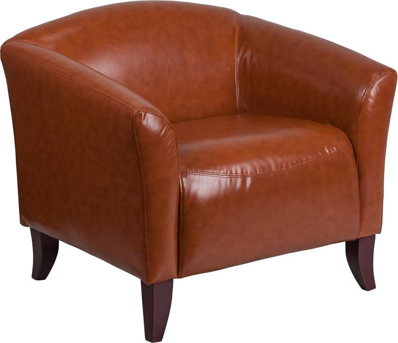 Flash Furniture 111-1-CG-GG HERCULES Imperial Series Cognac Leather Chair