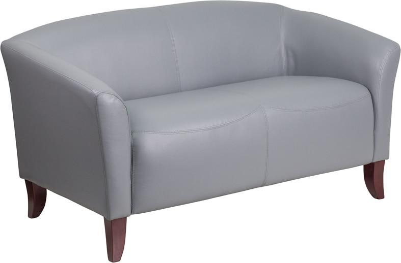 Flash Furniture 111-2-GY-GG HERCULES Imperial Series Gray Leather Loveseat