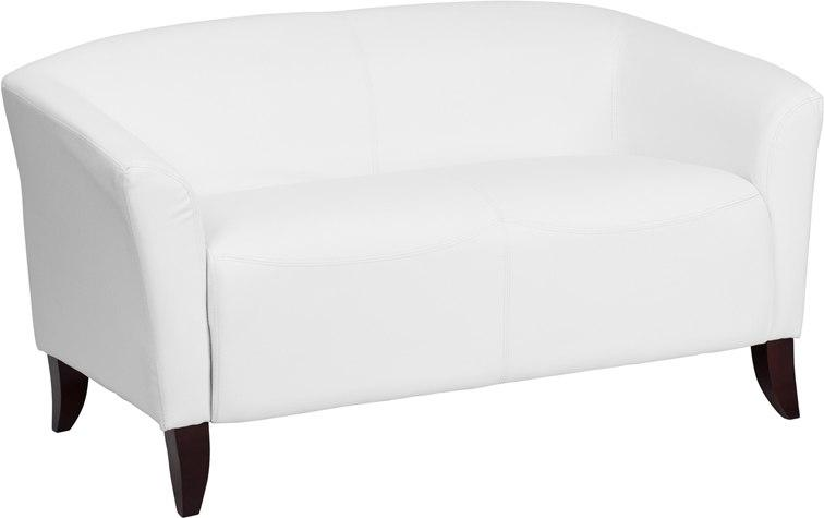 Flash Furniture 111-2-WH-GG HERCULES Imperial Series White Leather Loveseat