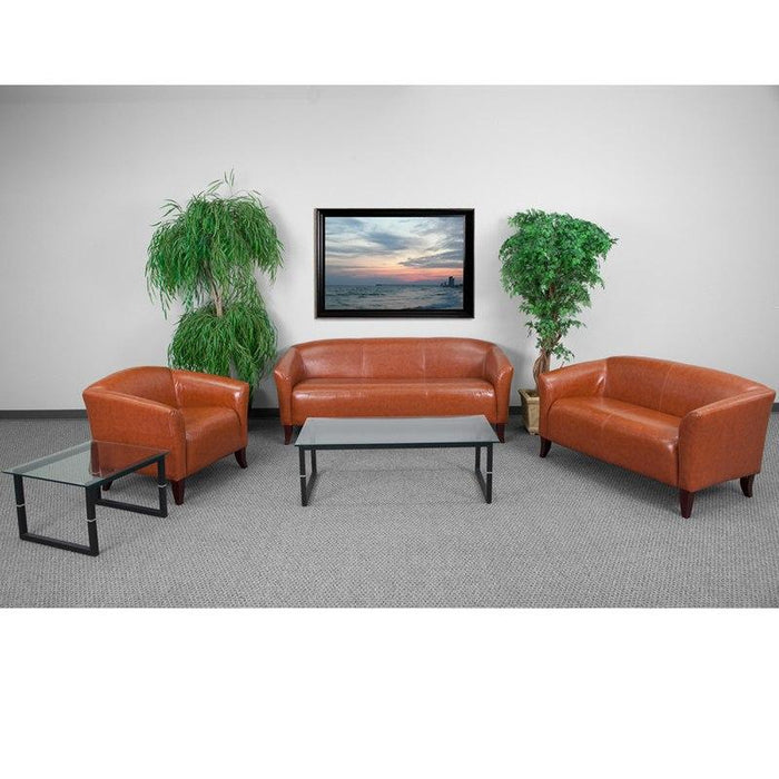 Flash Furniture 111-SET-CG-GG HERCULES Imperial Series Reception Set in Cognac