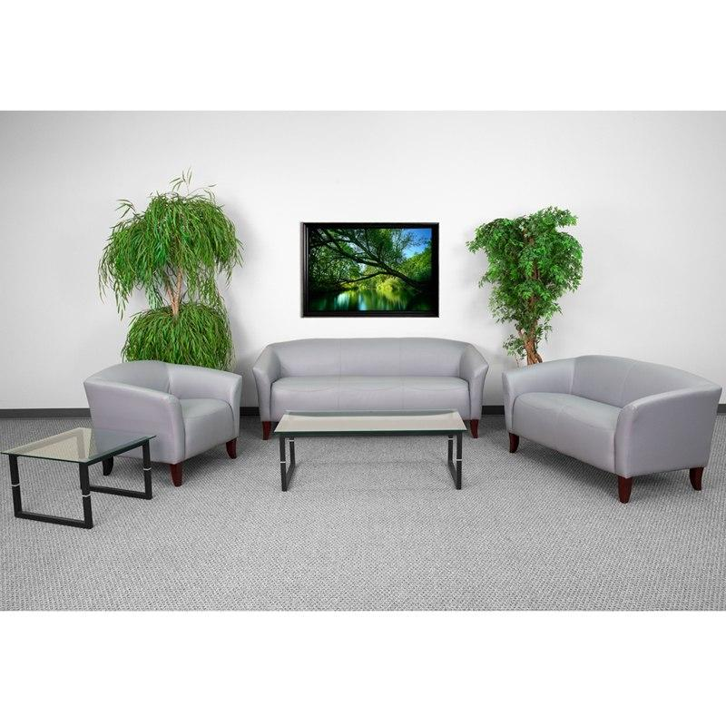 Flash Furniture 111-SET-GY-GG HERCULES Imperial Series Reception Set in Gray