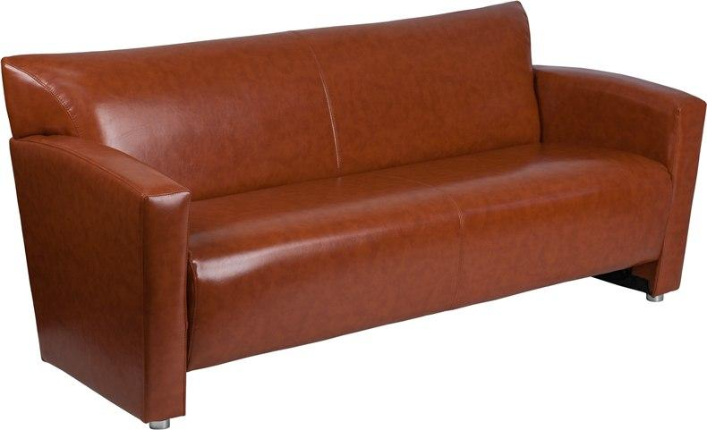 Flash Furniture 222-3-CG-GG HERCULES Majesty Series Cognac Leather Sofa