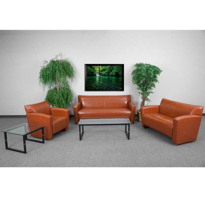 Flash Furniture 222-SET-CG-GG HERCULES Majesty Series Reception Set in Cognac