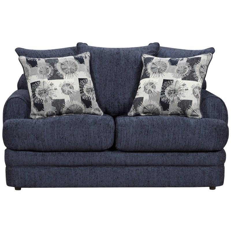 Flash Furniture 4652CALIBERNAVY-GG Exceptional Designs by Flash Caliber Navy Chenille Loveseat
