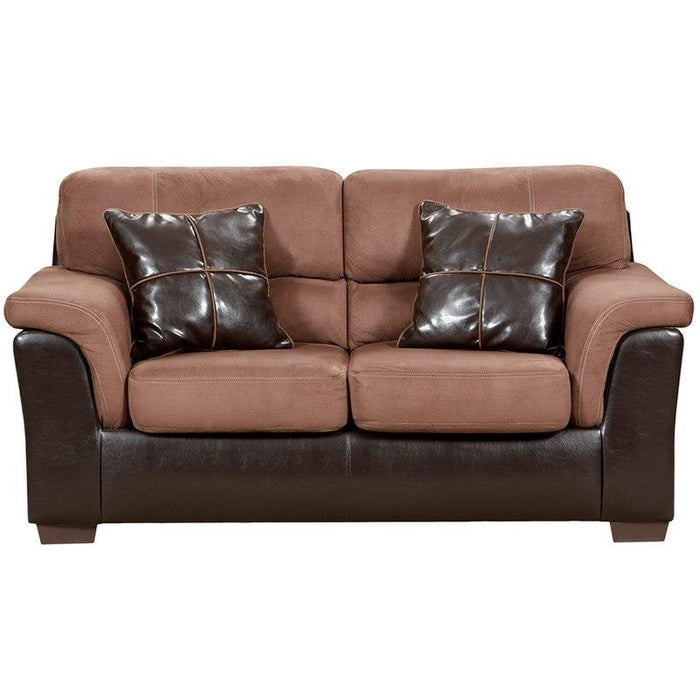 Flash Furniture 6202LAREDOCHOCOLATE-GG Exceptional Designs by Flash Laredo Chocolate Microfiber Loveseat