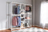 Wholesale interiors Gavin Modern and Contemporary White Metal 10-Shelf Closet Storage Racking Organizer WH06/WH09/WH12-White-Shelf