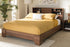 Wholesale interiors Vanda Modern and Contemporary Two-Tone Walnut and Black Wood Queen Size Platform Bed VDQB001291-Walnut/Black-Queen