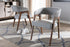 Wholesale interiors Tory Mid-Century Modern Walnut Wood Light Grey Fabric Dining Chair (Set of 2) TMH322-Light Gray-DC