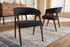 Wholesale interiors Tory Mid-Century Modern Walnut Wood Dark Grey Fabric Dining Chair (Set of 2) TMH322-Dark Gray-DC