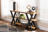 Wholesale interiors Duchaine Vintage Rustic Industrial Style Wood and Dark Bronze-Finished Metal Console Table YLX-2715