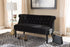 Wholesale interiors Flax Victorian Style Contemporary Black Velvet Fabric Upholstered 2-seater Loveseat WS-GK756-Black-LS