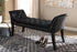 Wholesale interiors Chandelle Luxe and Contemporary Black Velvet Upholstered Bench WS-5809-Black-Bench