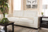 Wholesale interiors Adalynn Modern and Contemporary White Faux Leather Upholstered Sofa U2470-White-SF (IDS06LT-SF)