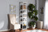 Wholesale interiors Gavin Modern and Contemporary White Metal 5-Shelf Closet Storage Racking Organizer WH12-White-Shelf