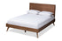 Wholesale interiors Zenon Mid-Century Modern Walnut Brown Finished Wood King Size Platform Bed Zenon-Ash Walnut-King