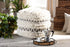 Wholesale interiors Vesey Moroccan Inspired Beige and Brown Handwoven Wool Pouf Ottoman Vesey-White/Grey-Pouf