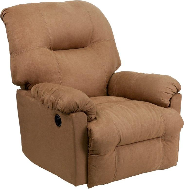 Flash Furniture AM-CP9350-2600-GG Contemporary Calcutta Camel Microfiber Power Chaise Recliner with Push Button