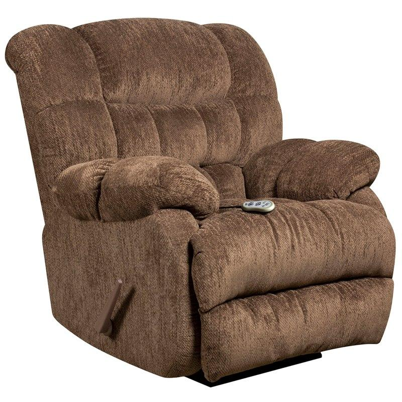 Flash Furniture AM-H9460-5860-GG Massaging Columbia Mushroom Microfiber Rocker Recliner with Heat Control