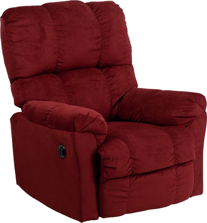 Flash Furniture AM-P9320-4170-GG Contemporary Top Hat Berry Microfiber Power Recliner with Push Button