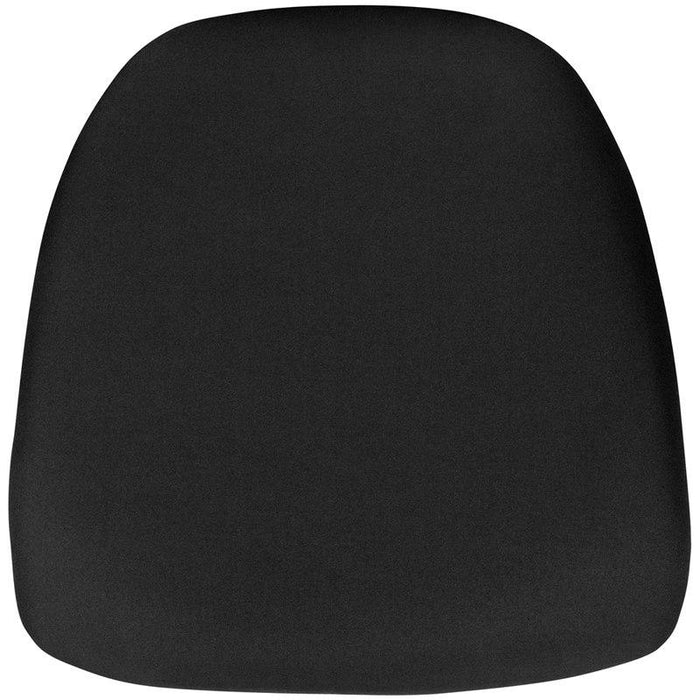 Flash Furniture BH-BLACK-HARD-GG Hard Black Fabric Chiavari Chair Cushion
